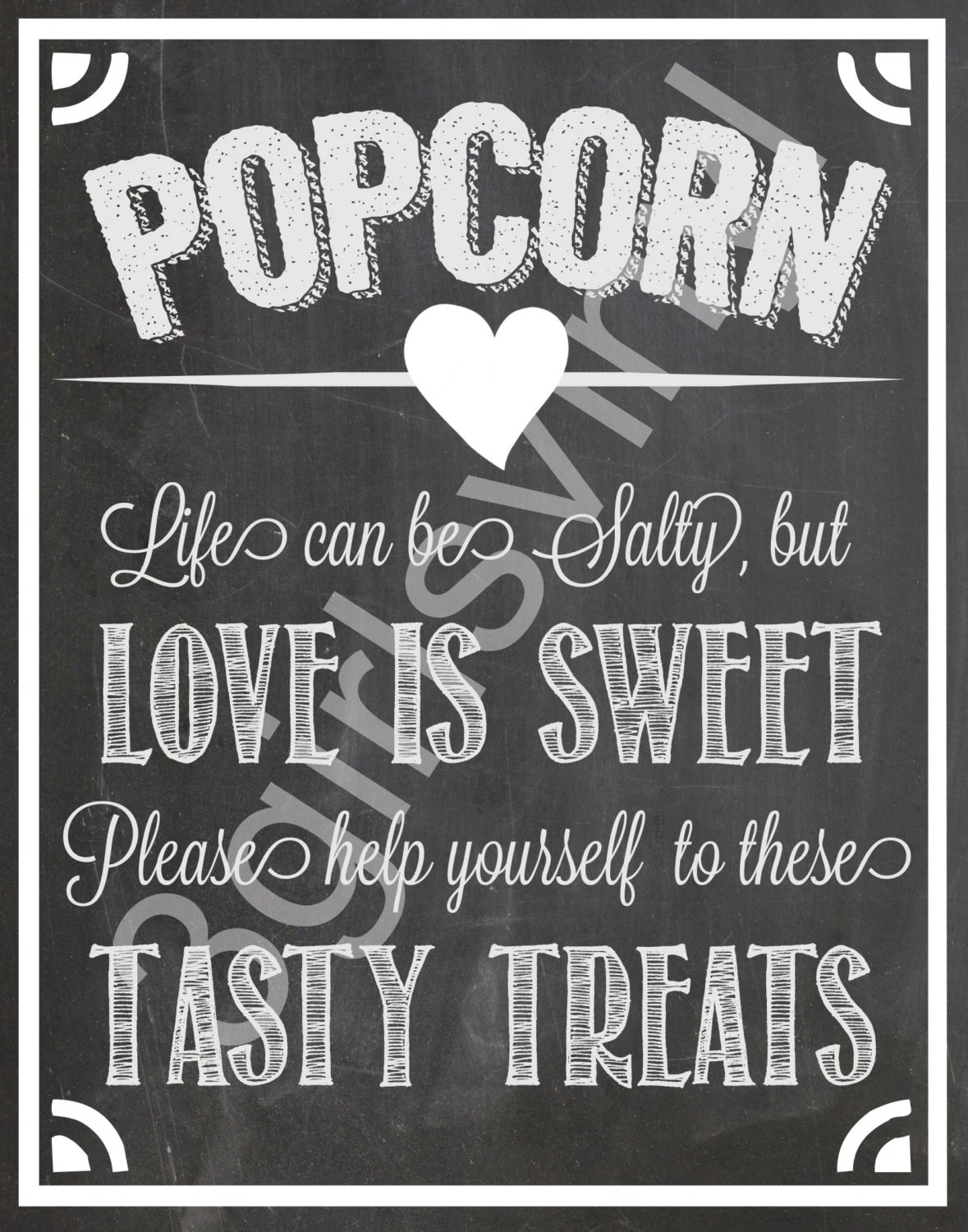 CUSTOM POP STARS Popcorn Bar Party Printables