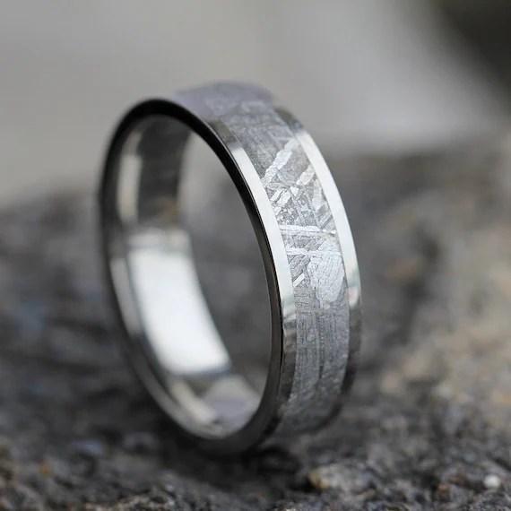 Gibeon Meteorite Wedding Band Wedding Anniversary Ring