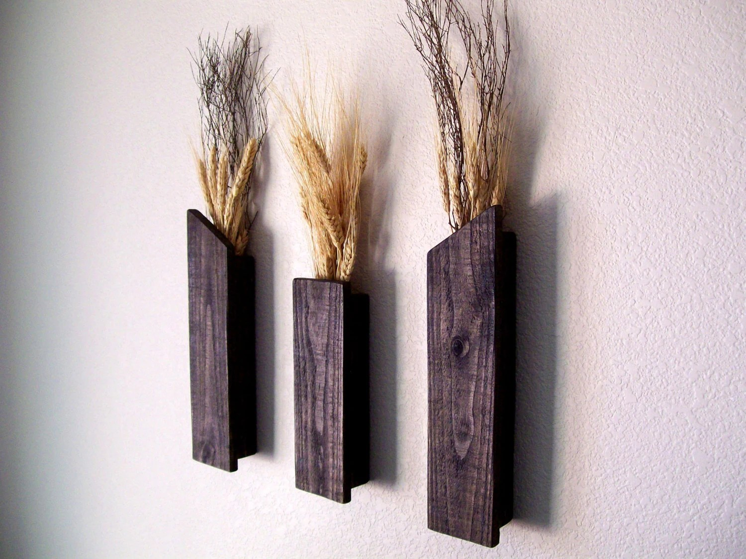 Rustic Vases Wall Vases Flower Vase Wall Sconce Floral Decor on Wall Sconces With Flowers id=84124