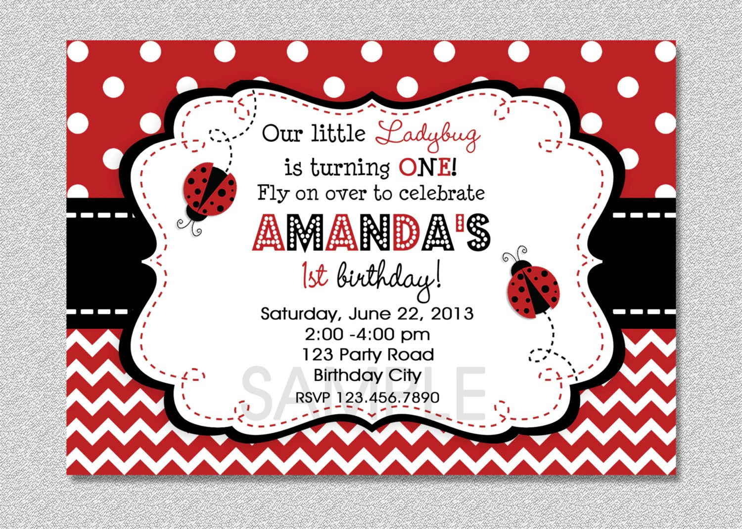 Below are some of ladybug birthday invitations you can get freely. Ladybug Invitation Template Free Ziyem