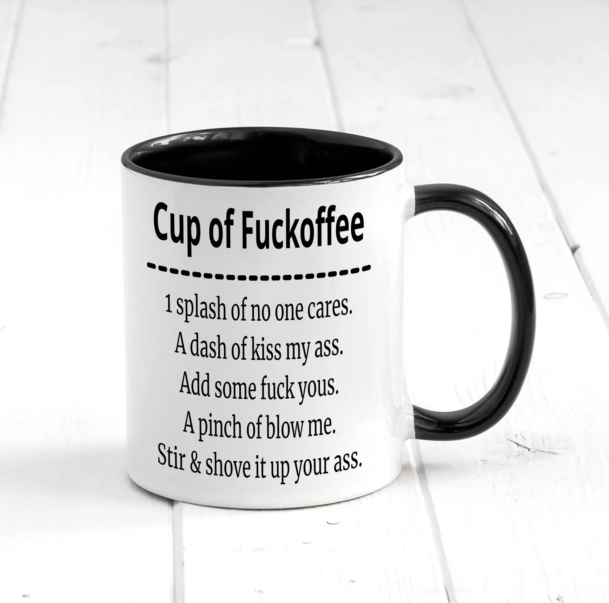 Cup Of Fuckoffee Funny Coffee Mug Funny And Rude Gift
