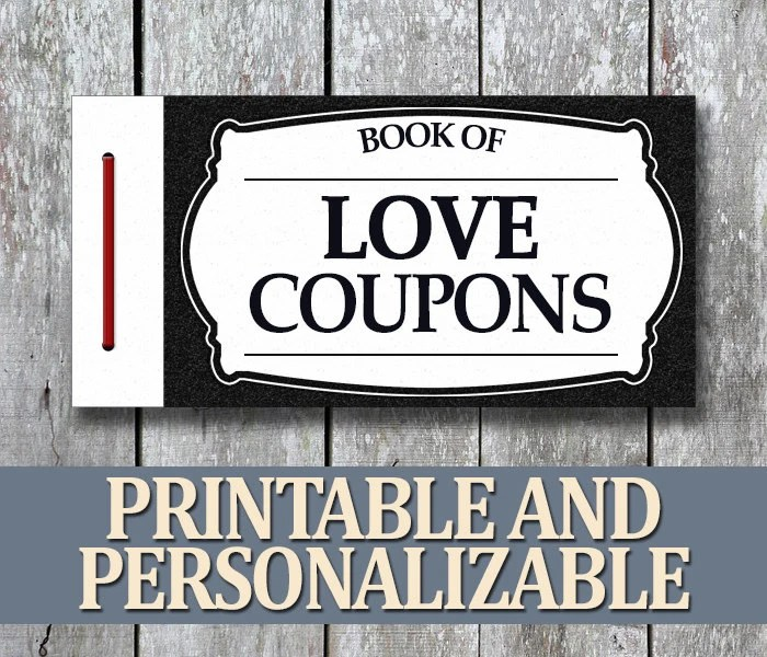 Printable Love Coupon Book Anniversary Gift For Boyfriend