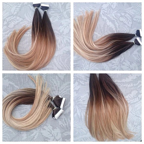 5 Star Ombre Balayage European Remy Tape In Seamless Weft Hair
