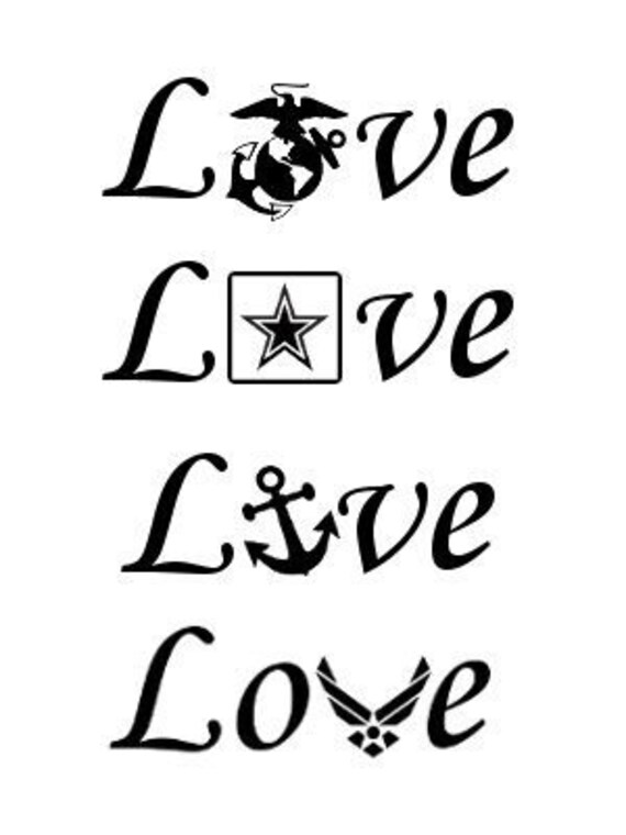Download Military Love Decal Cup decal tumbler decal yeti decal