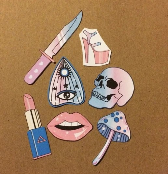 halloween tumblr sticker set