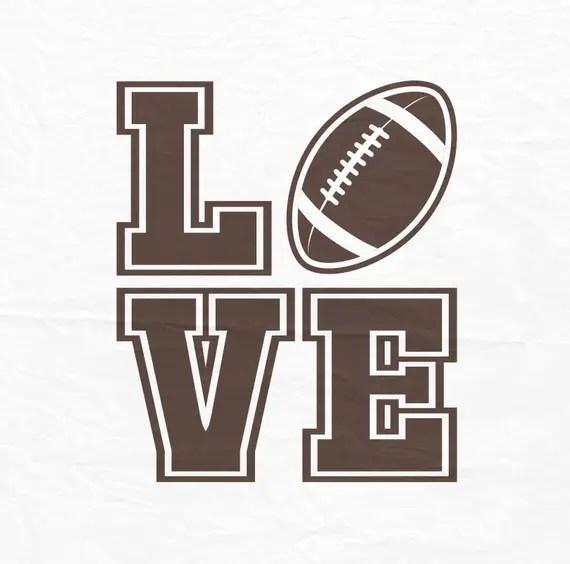Download Football Love SVG Football SVG Football Cut Files Svg
