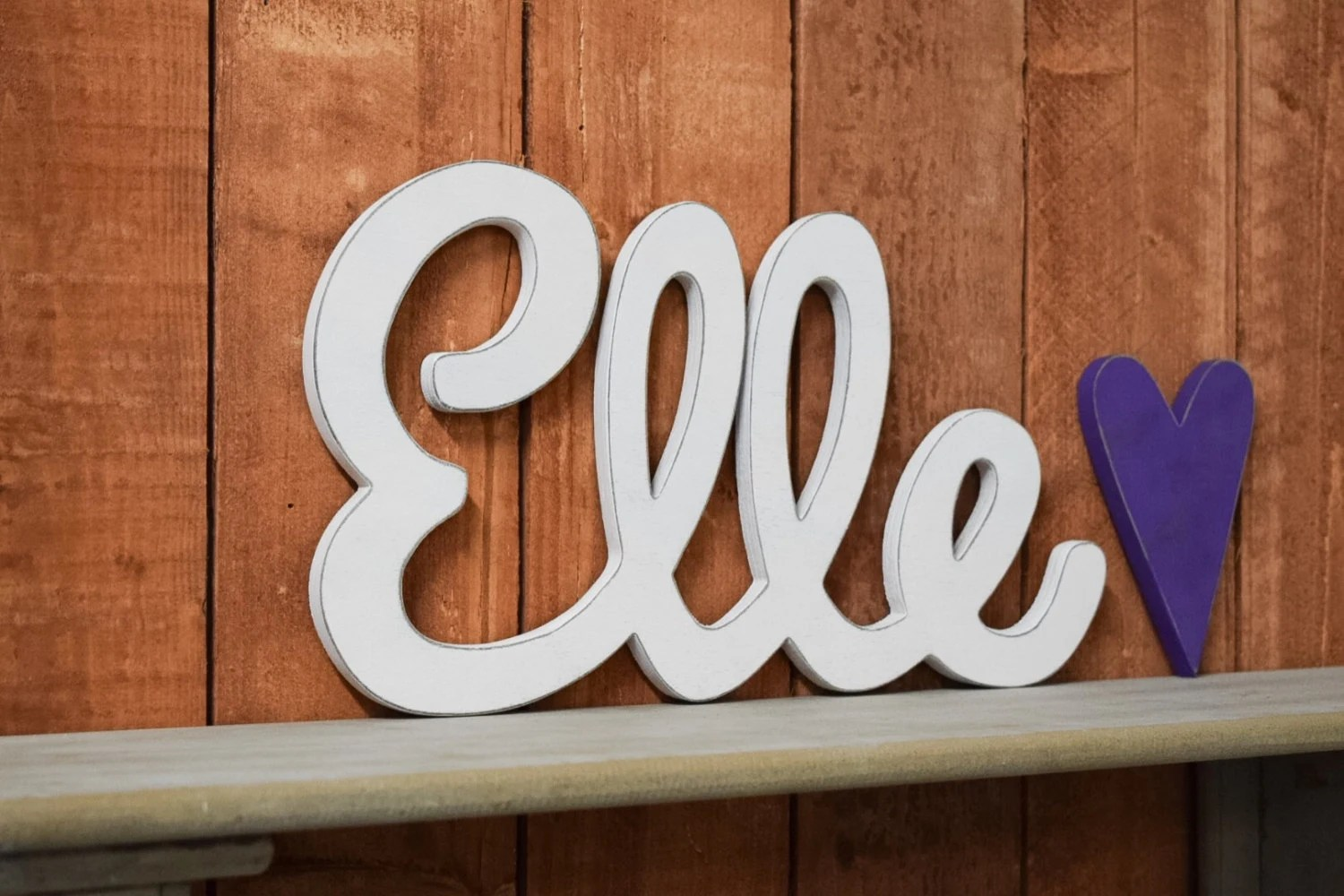 Elle Baby Name Wooden Sign Nursery Decor Baby name signs
