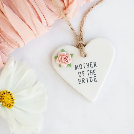 Mother of the bride ceramic keepsake