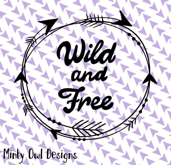 Download Cricut SVG PNG Wild & Free SVG Arrows Tribal Frame