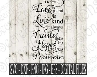 Download Love is patient svg   Etsy