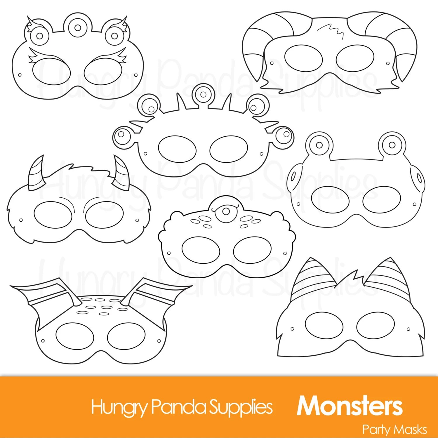 printable template halloween masks