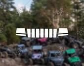 DECAL - [Jeep WJ Grill v2...