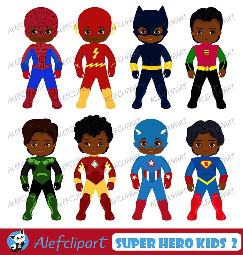 African American Superhero Clipart Superhero