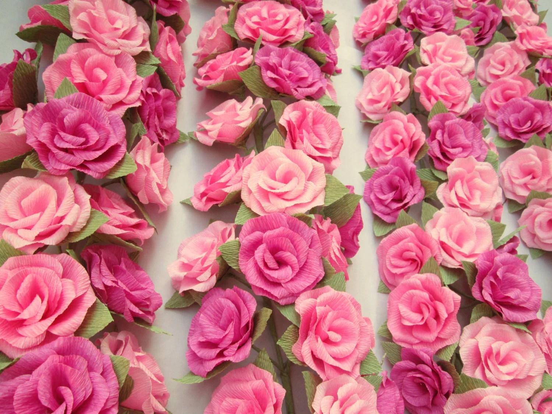 Paper Flower Garland/Paper Flowers/Wedding Arch Garland/Table