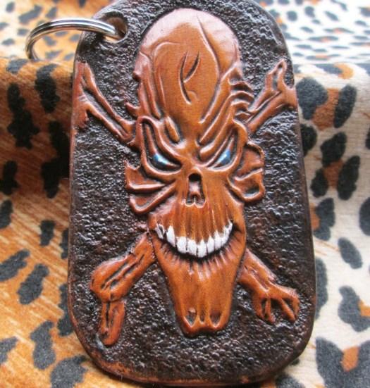 Skull keychain, Handmade ...
