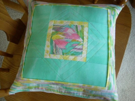 sunshine serenade square in a square pillow cover pattern sheet