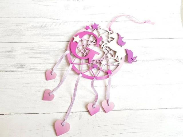 Personalised unicorn Dreamcatcher