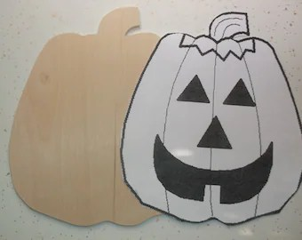 images of pumpkins for halloween cutout from wood