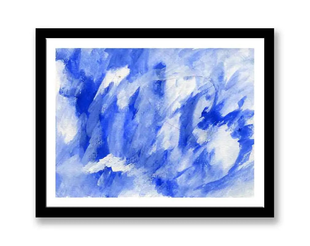 Blue and white abstract /...