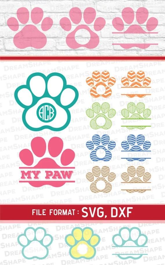 Download SVG Paw Cut Files Vinyl Cutters Monogram Cricut Files