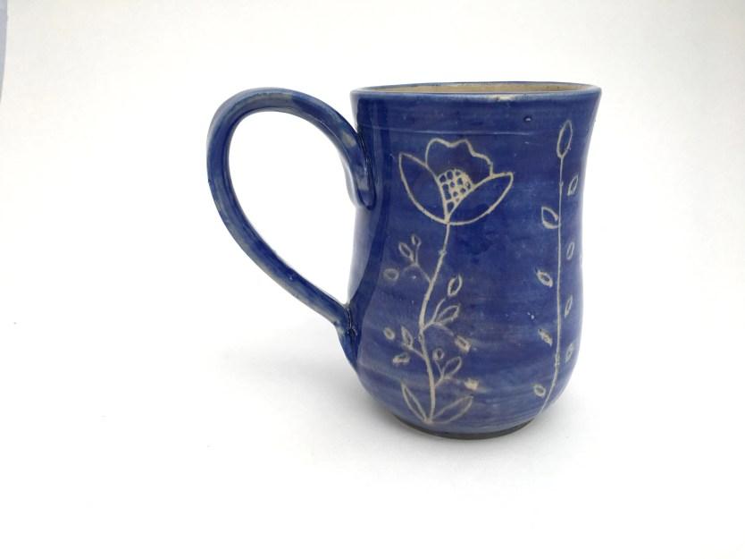 Mug - Carved Purple Flowe...