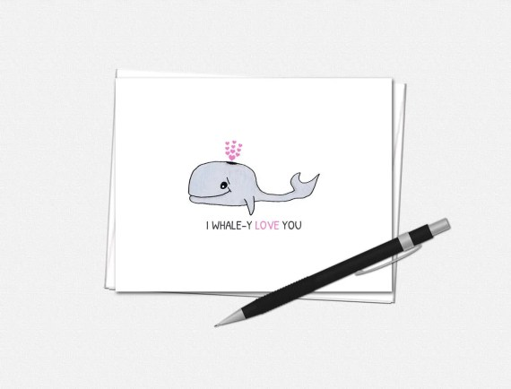 I Whale-Y Love You - Valentine's Day Card