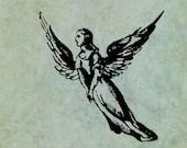 Flying Angel in Long Robe...