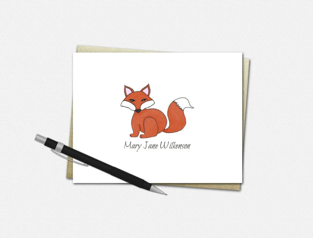 Custom Note Cards - Red F...