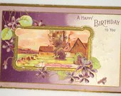 Antique Embossed Birthday...