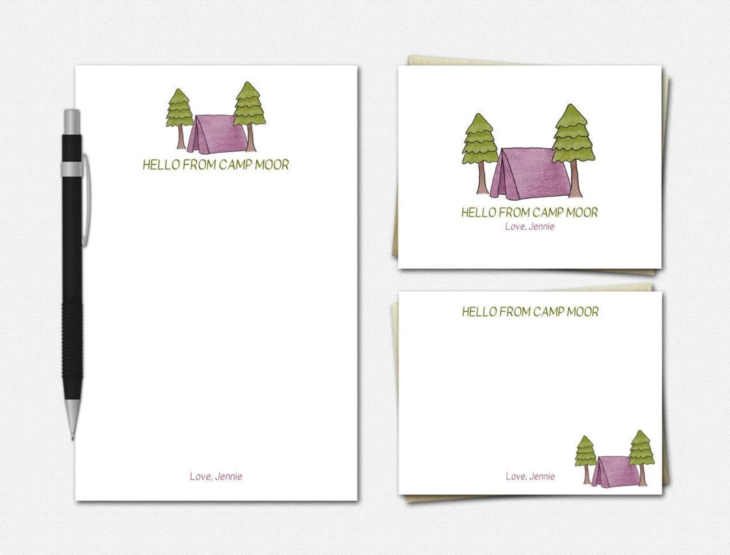Camp Stationery Set - Pin...