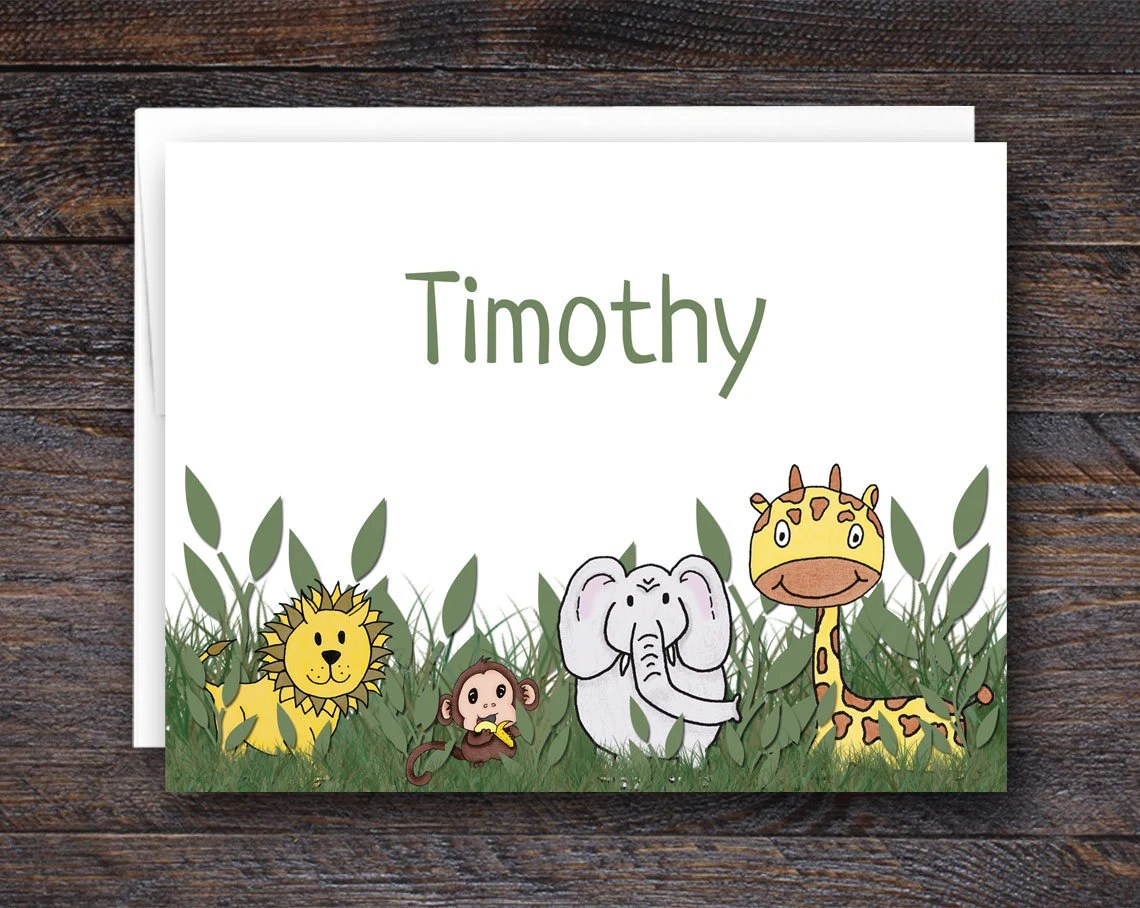 Personalized Safari Notec...