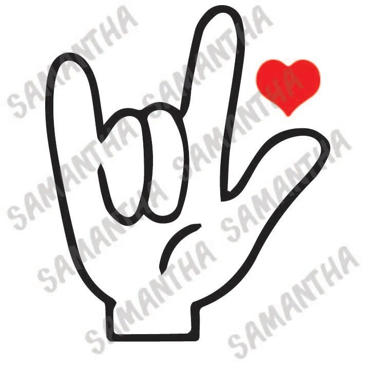 Download I love you in sign language heart valentines day Cameo Cricut