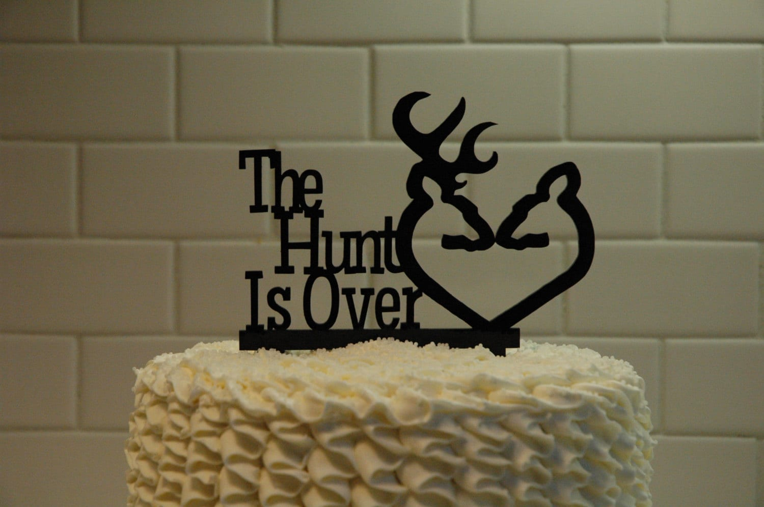 Deer Wedding Cake Topper The Hunt is Over grooms cake         zoom