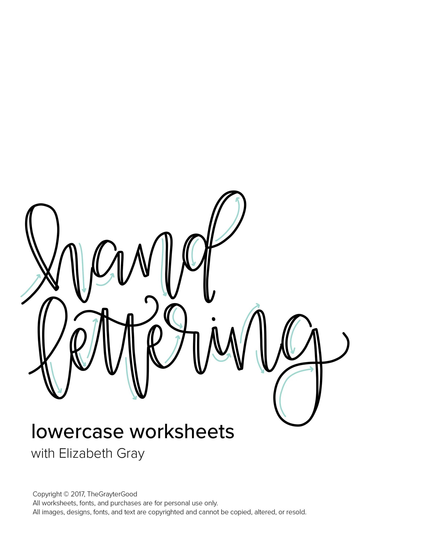Hand Lettering Worksheets Hand Lettering Practice Custom