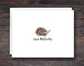 Hedgehog Note Cards - Fol...