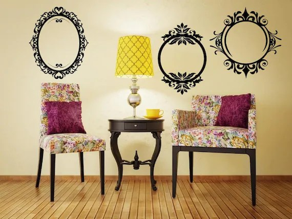 Vintage Frame Wall Decals by MotivationalStickers