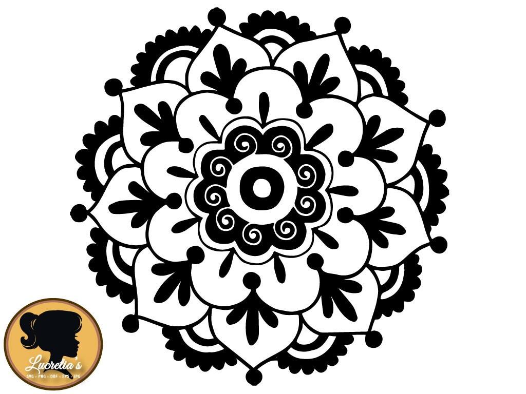 Download Flower Mandala SVG Cut Files for Vinyl Cutters Screen