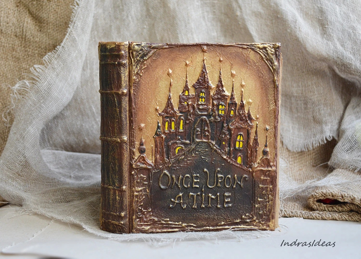 Fairytale Wedding Guest Book Personalized Book Once Upon A