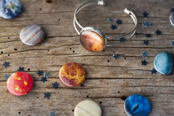 MAGNETS ONLY Solar System Planet Moon and Sun Magnets for