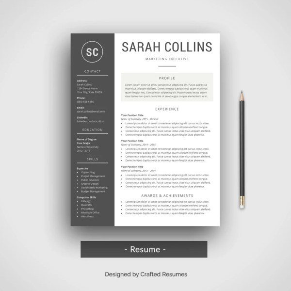 simpple black and white resume modern   Vatoz atozdevelopment co simpple