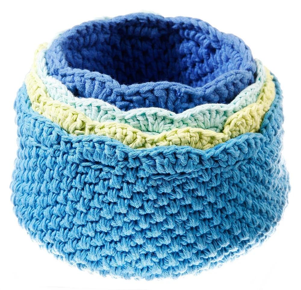 Cotton crochet basket, st...