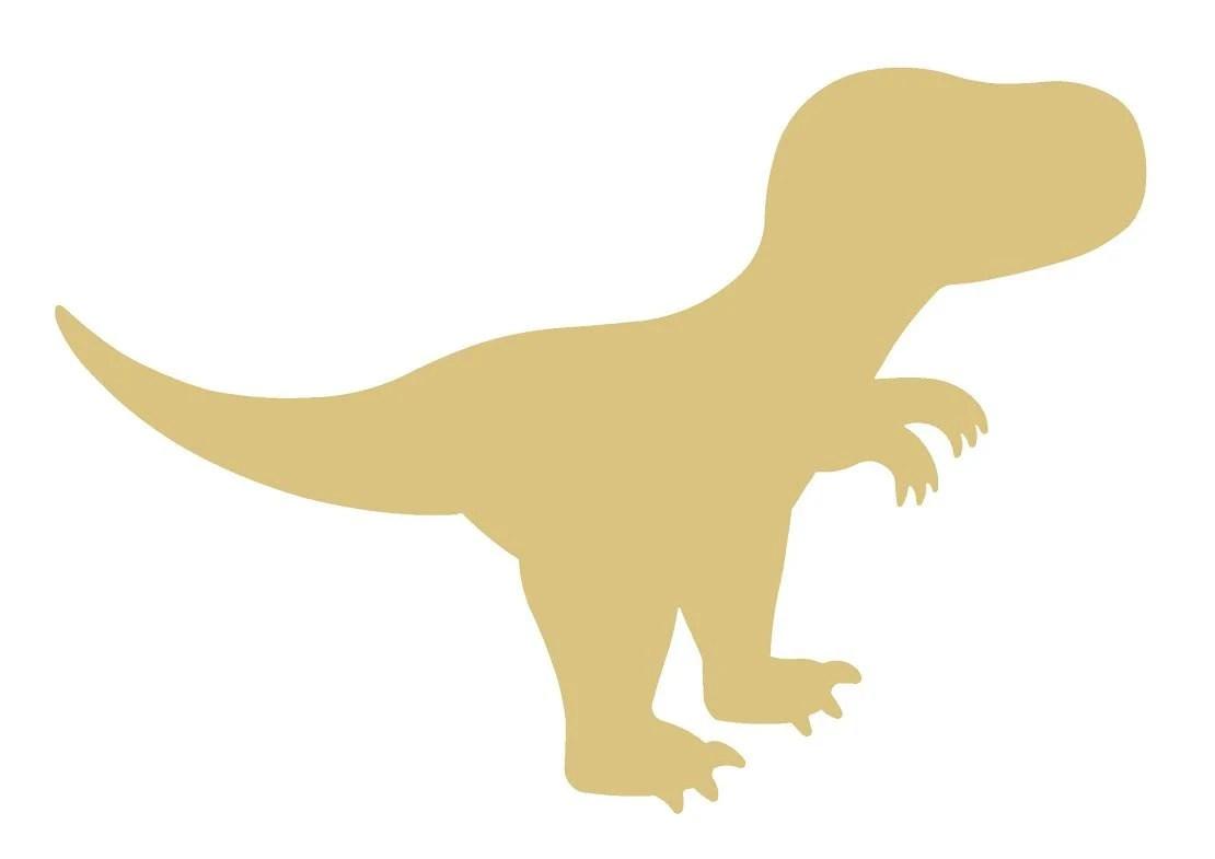 T Rex Dinosaur Unfinished Wood Shape Cutout Variety Sizes Usa