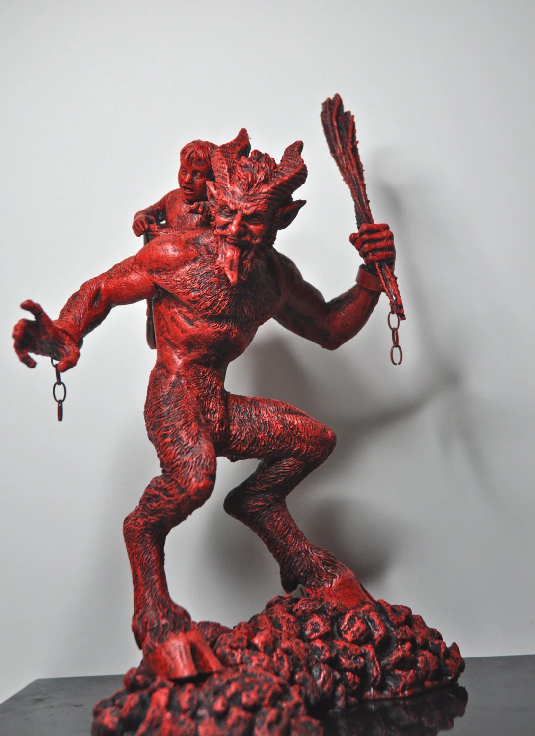 Krampus Statue I Red Finish