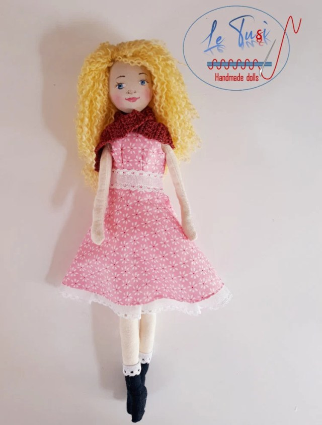 Fabric doll, handmade, so...