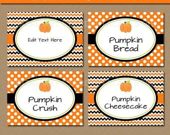 halloween food tags