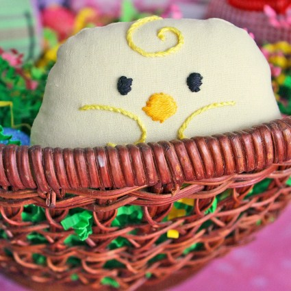 Little Yellow Chick: The Cutest Mini Plush Spring Baby Chicken made from Buttery Yellow Cotton with Embroidered Features