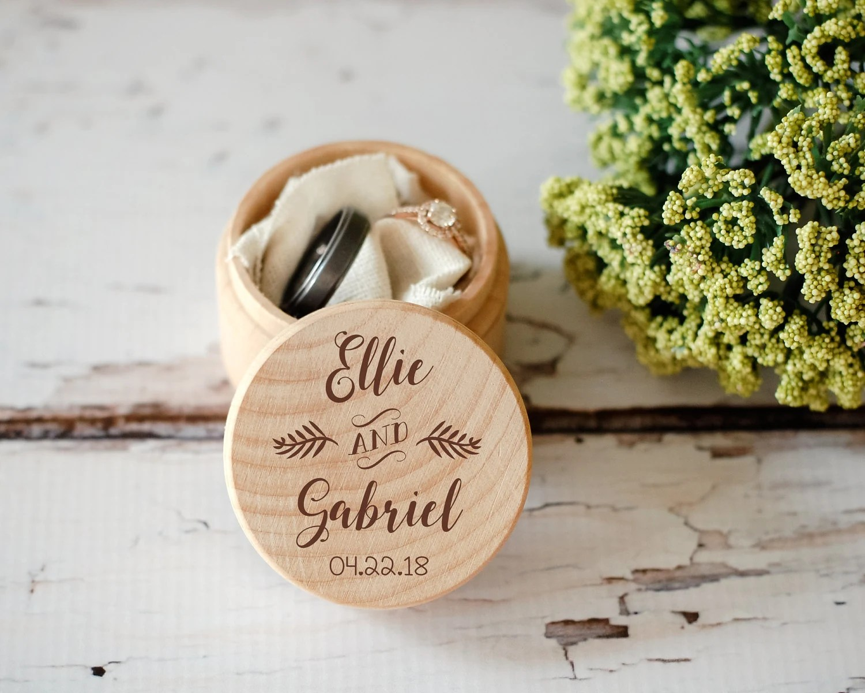 Custom Wedding Ring Box Wooden Ring Box Wedding Gift Ring