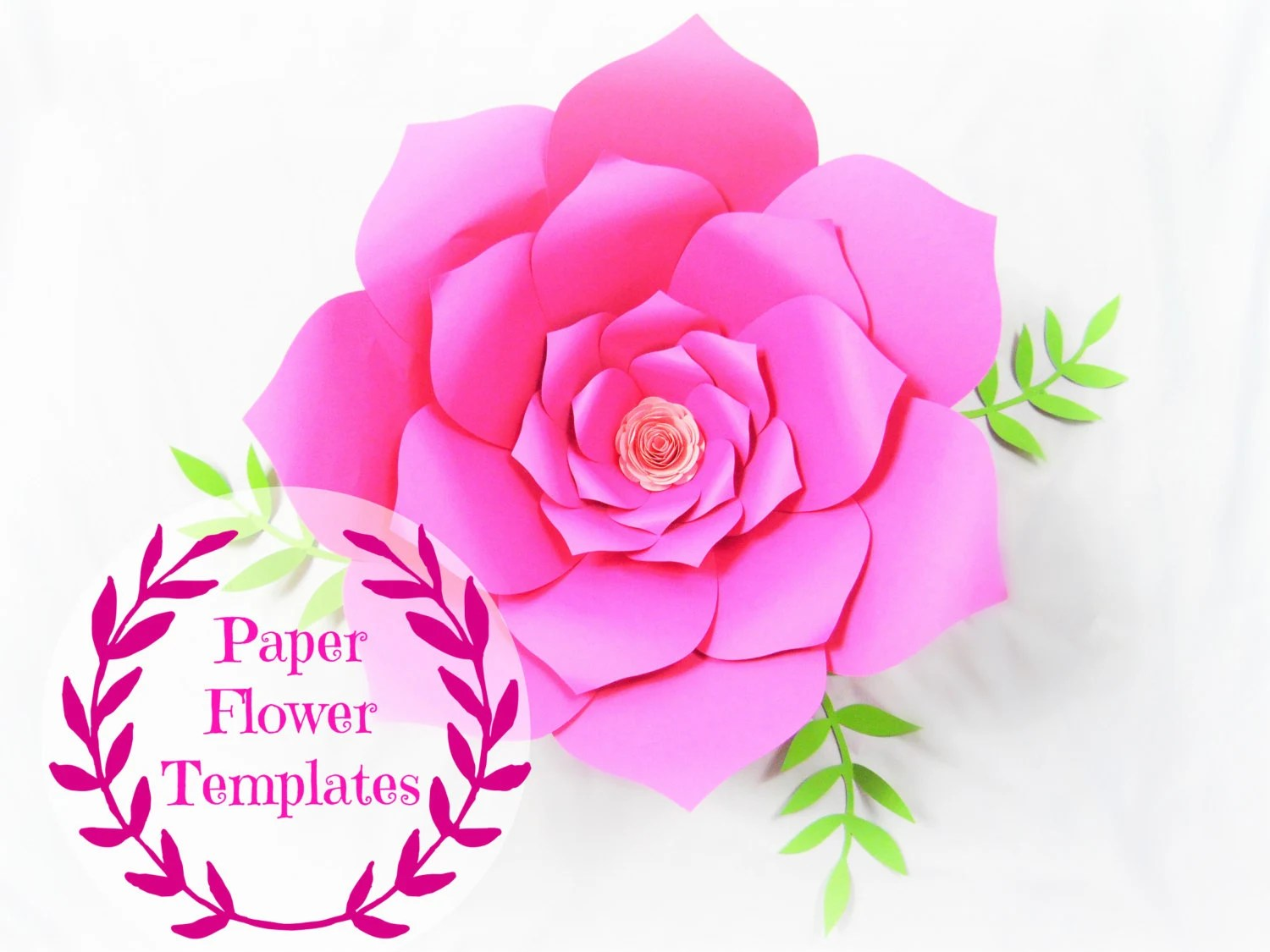 Diy Wedding Paper Flowers Flower Templates Svg Cut Files