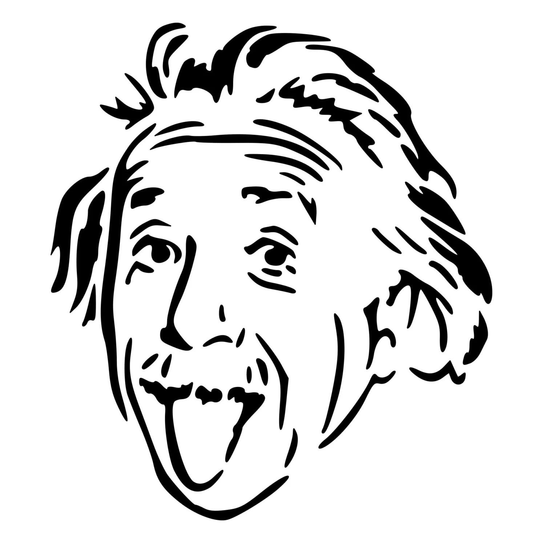 Albert Einstein Cut Decal Car Window Wall Bumper Phone