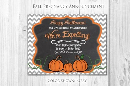 halloween pregnancy announcement cards